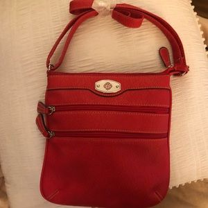 Red crossbody purse NWOT